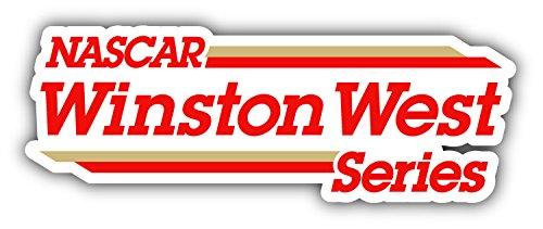 Winston West Series Nascar Racing Car Bumper Sticker Decal 6'' x 2''