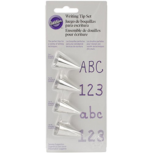 Wilton 418-4566 4-Piece Writing Tip Set (Fine Tip Writing)