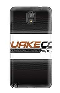 New Quakecon Logo Tpu Case Cover, Anti-scratch AMGake Phone Case For Galaxy Note 3