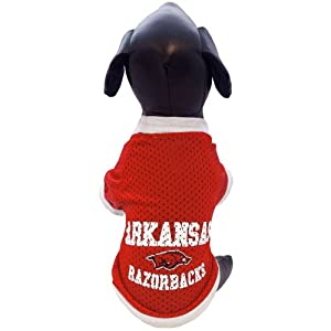 All Star Dogs NCAA Arkansas Razorbacks Athletic Mesh Dog Jersey (Team Color, XX-Small)