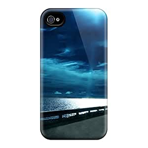 Flexible Tpu Back Case Cover For Iphone 4/4s - Highway Nights