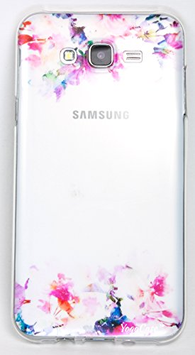 Samsung Galaxy J7 Case, YogaCase InTrends Back Protective Cover (Watercolor Flowers)