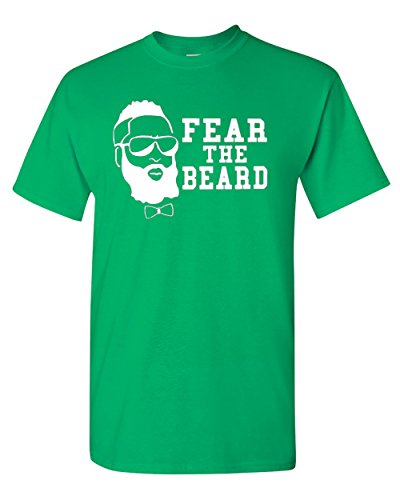 Fear The Beard Harden Basketball Houston T-Shirt Tee (Medium, Irish -