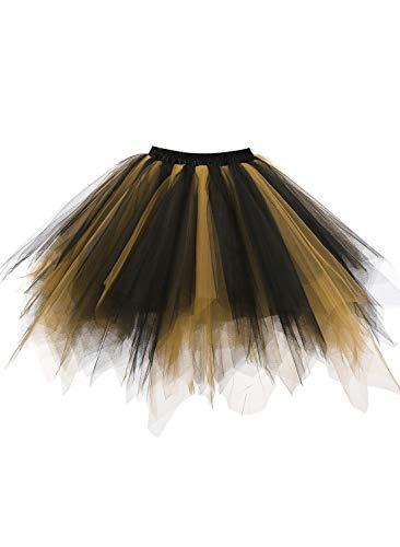 Emondora Retro Short Tutu Skirt Petticoat Adult Fluffy