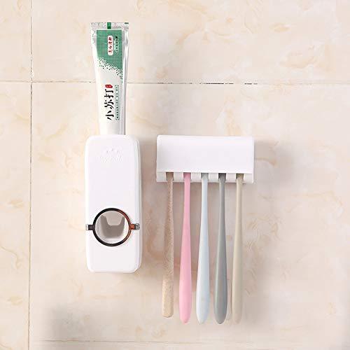 - SANGAITIANFU Automatic Toothpaste Dispenser Wall Mount Tooth Brush Holders Toothpaste Squeezer Set