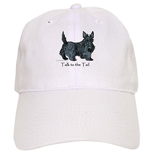 - CafePress Scottish Terrier Attitude Baseball Cap with Adjustable Closure, Unique Printed Baseball Hat White