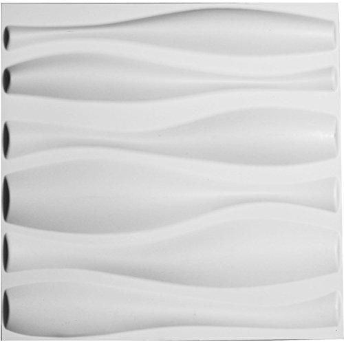 "Ekena Millwork WP20X20FAWH 19 5/8""W x 19 5/8""H Fairfax EnduraWall Decorative 3D Wall Panel, White"