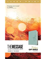 The Message Deluxe Gift Bible, Large Print (Leather-Look, Teal): The Bible in Contemporary Language