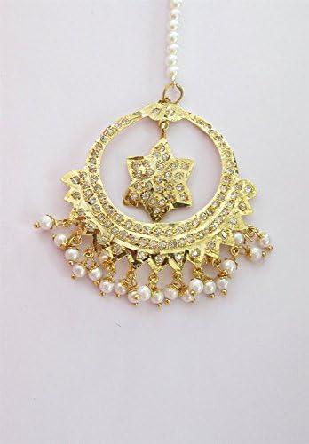 Amazon Com Star Gold Tikka Headpiece Tikka Headpiece Jewelry