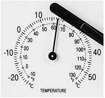 Elbe RP-3005-9 Reloj de pared con termómetro e higrómetro, mide ...