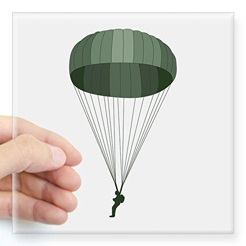 CafePress Airborne Paratrooper Sticker Square Bumper Sticker Car Decal, 3