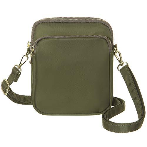MINICAT RFID Blocking Travel Small Crossbody Bag Nylon Mini Crossbody Purse Handbag For Women (Green)