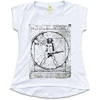 Camiseta T-shirt Feminina Rock Cool Tees Guitarra Da Vinci