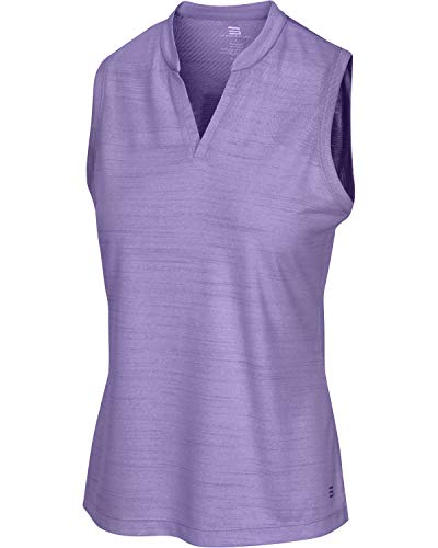 Women's Sleeveless Collarless Golf Polo Shirt – Dry Fit, Breathable, Compression Golf Tops