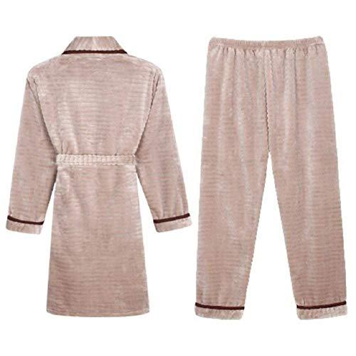 Rot Ropa Damas Noche Coral Basic De Calentamiento Dormir Pijama Pijamas Largo Otoño Espesar Invierno E Transparentes x8wwZR7nq0