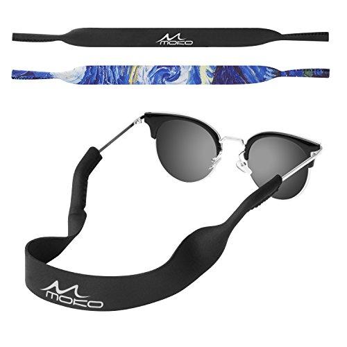 MoKo Neoprene Eyewear Retainer, Universal Fit No Tail Sports Sunglasses Retainer, Sunglass Strap Safety Glasses Holder for Kids, Men, Women