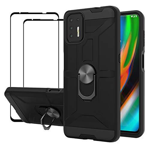Funda + 2 Vidrios Templados Para Motorola  G9 Plus