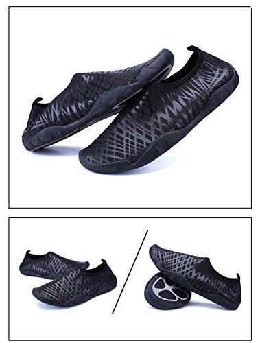 SexRt Männer und Frauen Barfuß Haut Amphibisch Quick-Dry Wasser Schuhe Schwarz