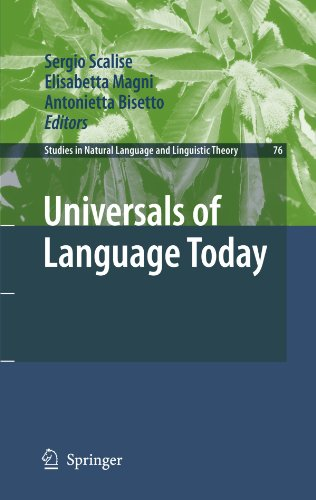 Universals of Language Today (Studies in Natural Language and Linguistic Theory)