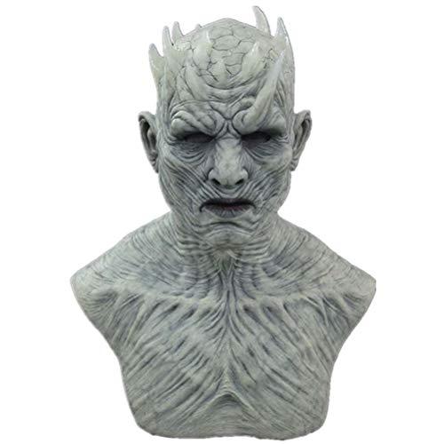 Mascara de latex de Halloween, mascara de latex Night King Zombie, mascara de Cosplay Realista, mascara de Goma para Cosplay, Disfraz Espeluznante