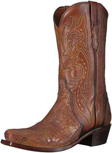 Lucchese Bootmaker Men's Dwight Western Boot, Rust, 10.5 D US (Lucchese Lizard Boots)