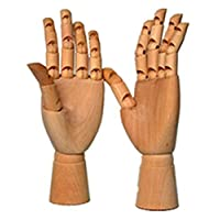 Dreanming 12&7 Inches Tall Wooden Hand Drawing Sketch Mannequin Model Wooden Mannequin Hand Movable Limbs Human Artist Model