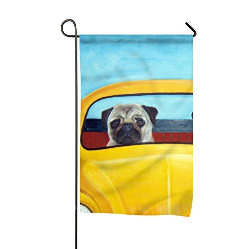 FunnyLife Garden Flag Pug Dog Art Print Yard Flags Holiday D