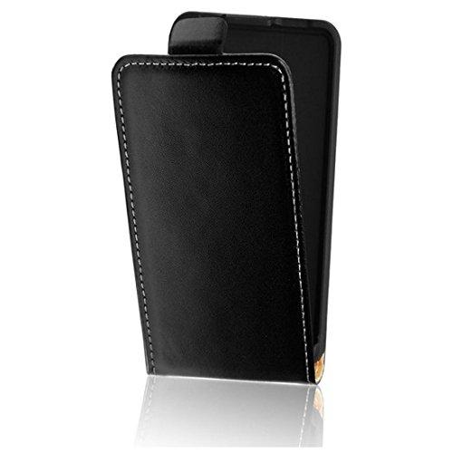 Flip Hülle Apple Iphone 5 / 5S / 5SE Hülle in Flipstyle Handytasche für Apple Iphone 5 / 5S / 5SE Tasche schwarz