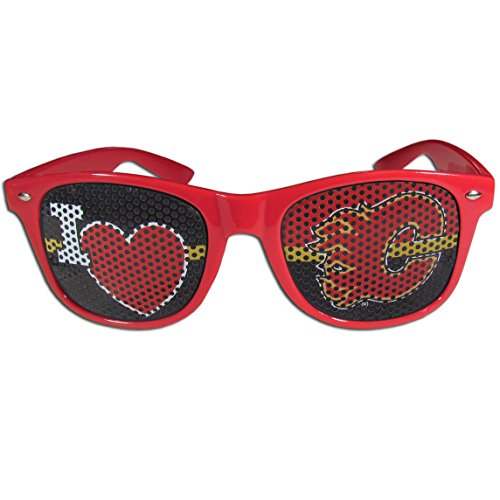 NHL Calgary Flames I Heart Game Day Shades, Red, ()