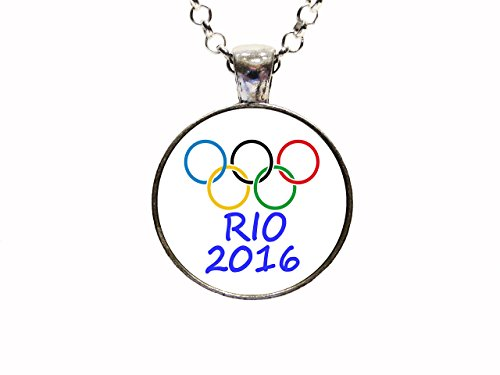 Digital Art Olympic 2016 Necklace Or Keychain Team USA Olympic Summer Games Rio De Janeiro Brazil Team Sport Gifts Olympian