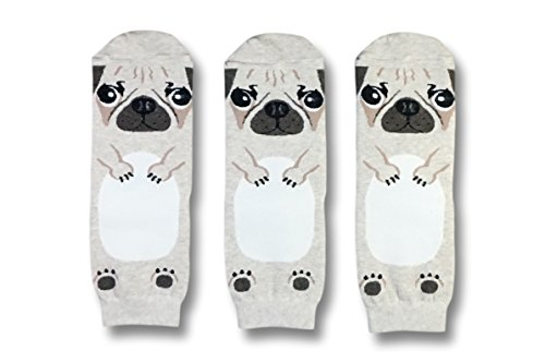 Doug The Pug Limited Edition - Women's Socks - 3 Pairs - Gift Box - Slippers Pug
