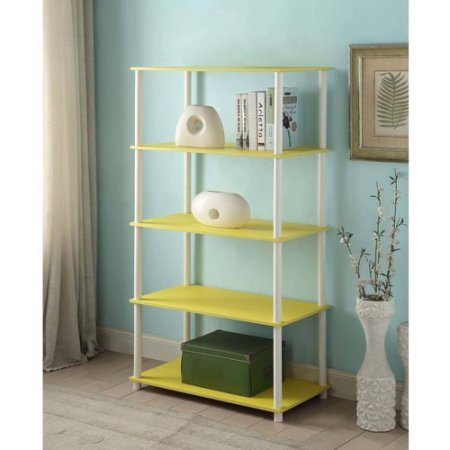Mainstays No Tools Assembly 8-Cube Shelving Storage Unit | Holds Storage Cubes (Yellow) - Storage Unit Assembly
