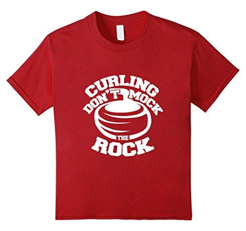 Kids Don't Mock the Rock Funny Curling Shirt 6 - Rocks Curling