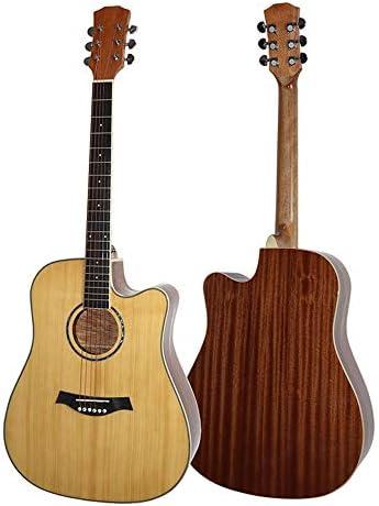ギター 初心者プロフェッショナルのために41インチのアコースティックギター手作りソリッドウッドギター 入門 ギター (Color : Natural, Size : 41 inches)