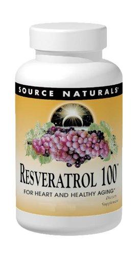 SOURCE NATURALS Resveratrol 100 Mg Tablet, 120 Count (Best Source Of Resveratrol)
