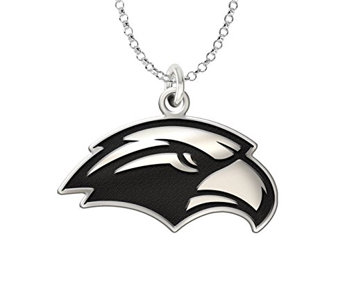 Southern Mississippi Golden Eagles Sterling Silver Cut Out Logo Charm Pendant 18