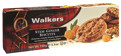 Walkers Shortbread Stem Ginger Biscuits, 5.3 (Ginger Cookies)