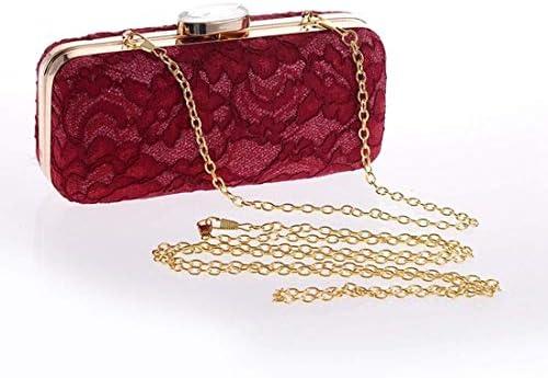 ファッションレースクラッチバッグ財布パーティーイブニングトートバッグバンケットバッグショルダーメッセンジャーバッグ(カラー:レッド) 美しいファッション