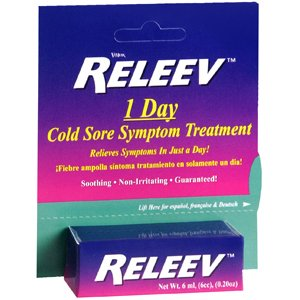 PACK OF 3 EACH RELEEV 1 DAY COLD SORE TRTMENT 6ML PT#63468941906