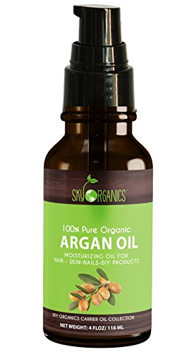 Sky Organics Best Moroccan Argan Oil By Sky Organics: Unrefined, 100% Pure, Cold-pressed, Organic Argan Oil From Morocco Moisturizing & Healing, for Dry Skin, Hair Conditioning, 4 oz