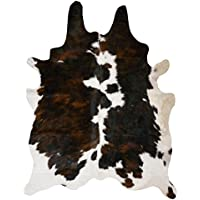 RODEO Dark Tricolor Cowhide Rug Size Large