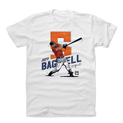 500 LEVEL Jeff Bagwell Cotton Shirt (Medium, White) - Houston Astros Men's Apparel - Jeff Bagwell Swing O ()