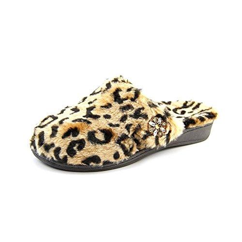 Orthaheel Vionic With Orthaheel Technology Women's Gemma Luxe Slipper Tan Leopard Slipper 10 M