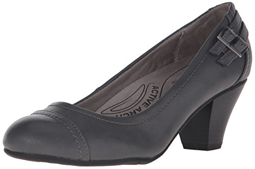 LifeStride Women's Give Dress Pump, Dark Grey 2, 6 M US