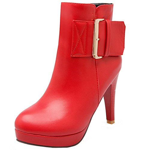 AIYOUMEI Women's Classic Boot Red cEQycYFkd