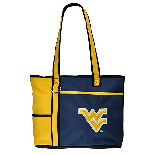 NCAA West Virginia Mountaineers Tote Bag with Embroidered Logo