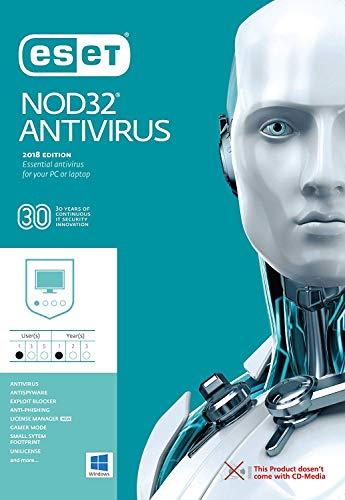 ESET NOD32 Antivirus 2019 / 3 PC's / 2.5 Year's / Windows PC / Registration Code- No CD