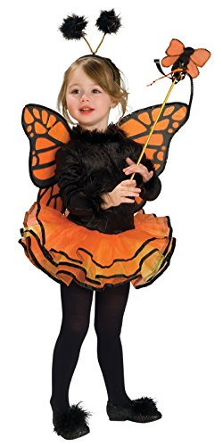 Black Butterfly Costumes (Rubie's Child's Costume, Orange Butterfly Costume-Small)