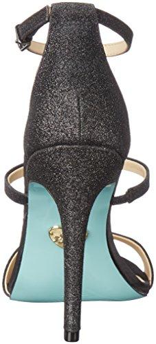 Blue Av Betsey Johnson Womens Sb-kelly Klänning Sandal Svart Glitter