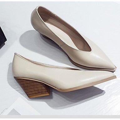 Talons Escarpin ggx 4 black Femme Basique 2 cm Chaussures Gros Amande LvYuan 5 5 Escarpin Cuir Eté Décontracté Talon à Noir à Basique qXIgxHw
